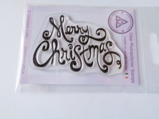 Scroll Merry Christmas A7 Clear Photopolymer Stamp