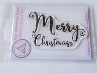Curly Merry Christmas A7 Clear Photopolymer Stamp