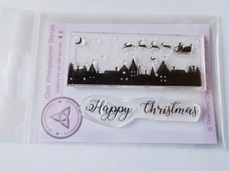 Happy Christmas Scene A7 Clear Photopolymer Stamp Set