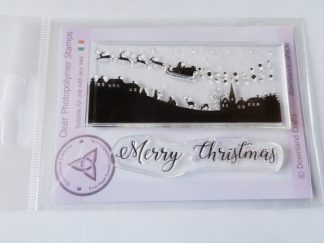 Merry Christmas Scene A7 Clear Photopolymer Stamp Set