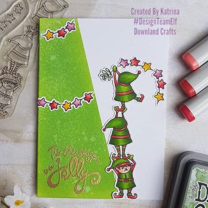 We Three Elves Stamp Set Card Sample 1