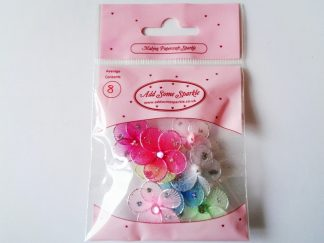 Pack of 8 Small Stocking Flowers (approx 25mm in diameter)