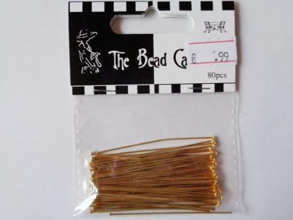 Gold Tone Head Pins