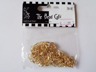 Gold Tone Oval Chain