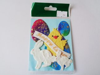 Pack of 7 Easter Themed Die Cut Toppers