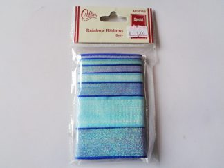 Mixed Blue Glitter Ribbon