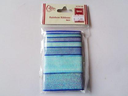 Mixed Blue Glitter Ribbon