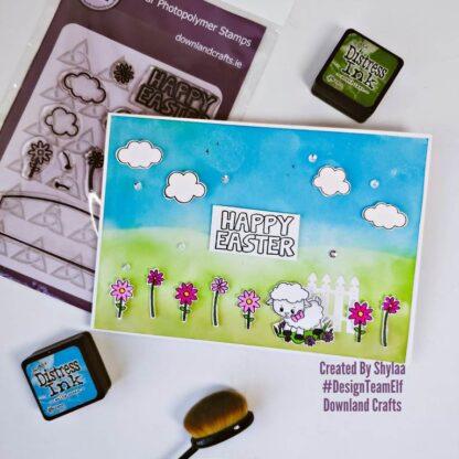 Happy Easter Stamp Set Card Sample