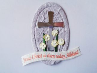 Lilac Easter Die Cut Card Topper