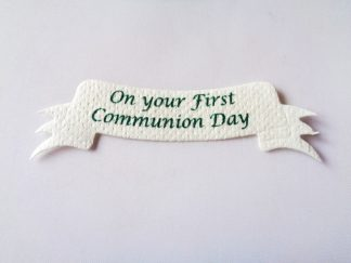 Pack of 5 First Communion Ribbon Word Banner Die Cuts