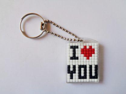 I Love You Pixelhobby Keyring Kit