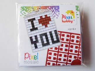 I Love You Pixelhobby Keyring Kit