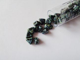 5gms Tube of 6mm Jet Travertin Kheops Par Puca Beads