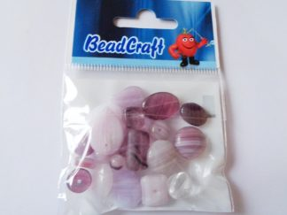 20gms Purple Pressed Glass Bead Mix