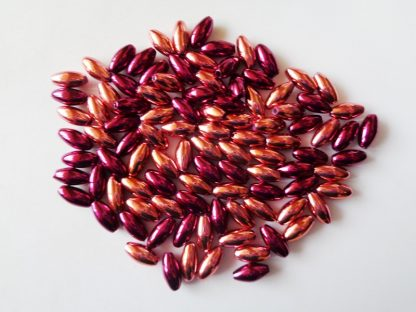 Pack of 100 4mm x 8mm Berries Metallic Pearl Rice Beads