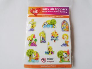 Religion Easy 3D Die Cut Toppers (10 designs - 3 layers)