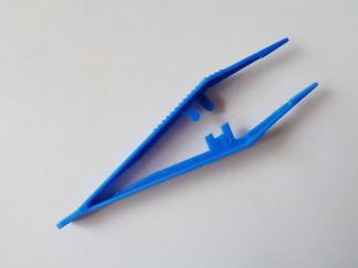 Blue Plastic Tweezers