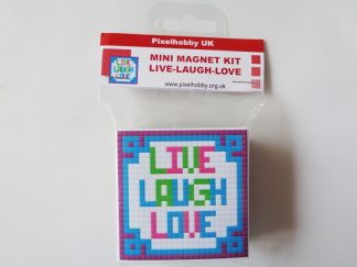 Live Laugh Love Pixelhobby Mini Magnet Kit