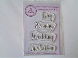 Wedding Invitation Words Stamp Set - A7 Clear Photopolymer