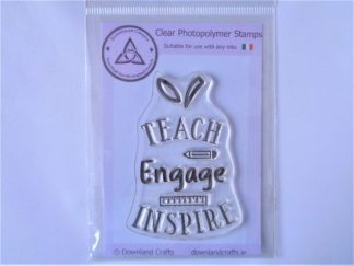 Teach, Engage, Inspire Stamp - A7 Clear Photopolymer