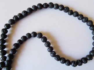 6mm Lava Volcano Round Beads