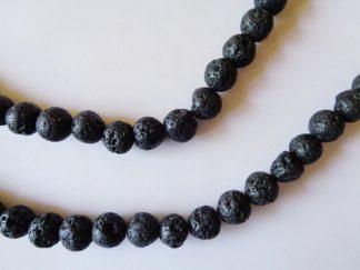 8mm Lava Volcano Round Beads