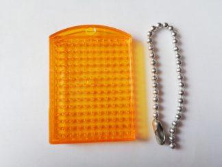 Orange Pixelhobby Keyring Baseplate With Chain