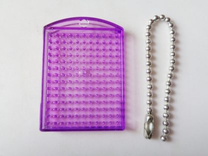 Purple Pixelhobby Keyring Baseplate With Chain