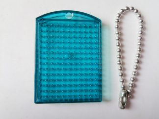 Turquoise Pixelhobby Keyring Baseplate With Chain