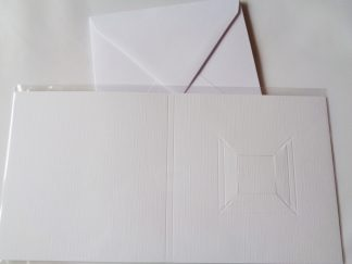 Pack of 4 White Square Blank Cards and Envelopes