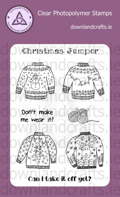Christmas Jumper A6 Clear Photopolymer Stamp Set