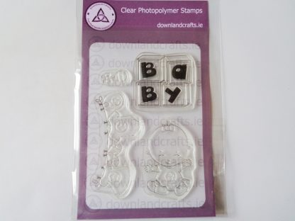 Baby Girl A6 Clear Photopolymer Stamp Set