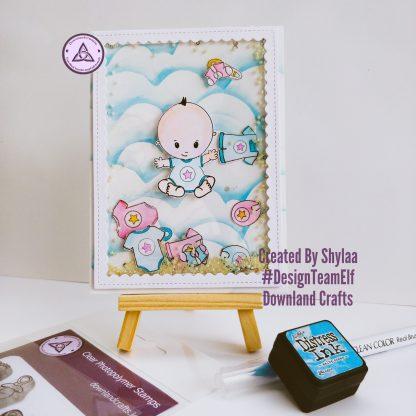 Baby Boy Stamp Set Card Sample 1