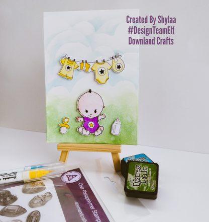 Baby Boy Stamp Set Card Sample 2