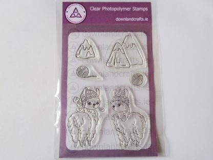 Llama Pals A6 Clear Photopolymer Stamp Set