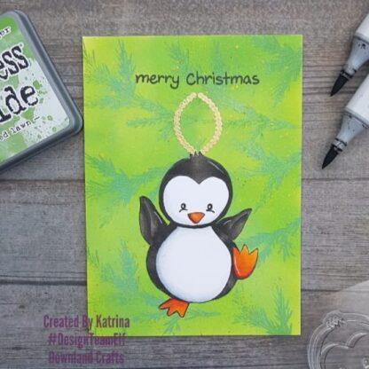 Paul Penguin A7 Stamp Card Sample