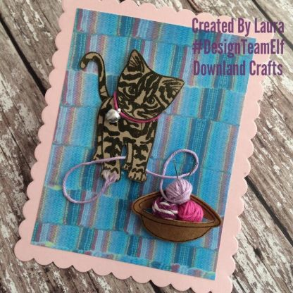 Tabby Cat Stamp Card Sample