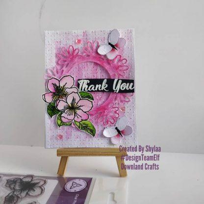 Cherry Blossom Stamp Set Card Sample