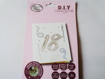 18th Birthday DIY Crystal Card Kit