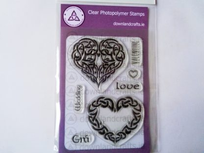 Celtic Heart A6 Clear Photopolymer Stamp Set