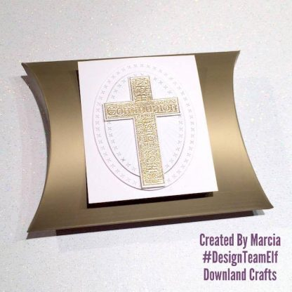 Communion Cross Stamp Box Sample