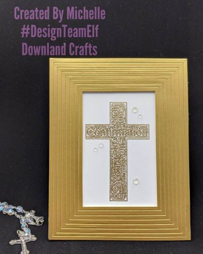 Confirmation Cross Stamp Card Sample