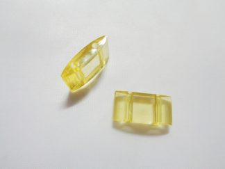 Pack of 25 Yellow 2 Hole Acrylic Carrier Beads