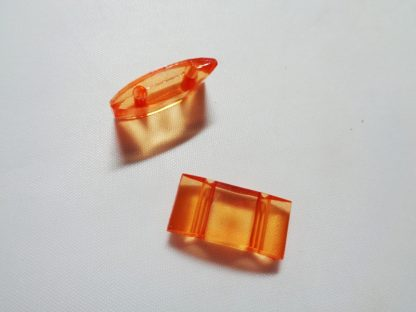 Pack of 25 Orange 2 Hole Acrylic Carrier Beads