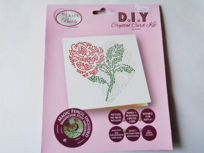 P. Rose Flower DIY Crystal Card Kit