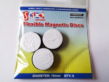 Pack of 6 Self Adhesive Flexible Magnetic Discs