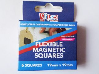 Pack of 6 Self Adhesive Flexible Magnetic Squares