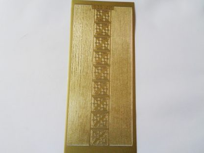 Gold Straight Line Borders and Corners Peel Off Stickers