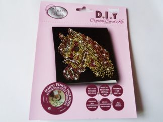 Horse Black DIY Crystal Card Kit