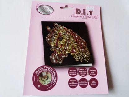 Horse Black DIY Crystal Card Kit